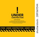 under construction background... | Shutterstock .eps vector #289369544
