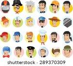 cartoon vector avatars of... | Shutterstock .eps vector #289370309