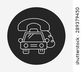 taxi line icon | Shutterstock .eps vector #289379450