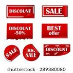 sale sticker  banner template... | Shutterstock . vector #289380080