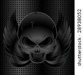 black metal grid background... | Shutterstock .eps vector #28938052