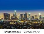 Skyline Of Los Angeles By Nigh...