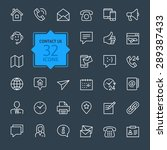 outline web icons set   contact ... | Shutterstock .eps vector #289387433