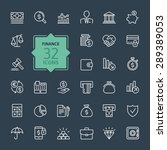 outline web icon set   money ... | Shutterstock .eps vector #289389053