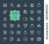 outline web icon set   money ... | Shutterstock .eps vector #289389053