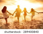 group of happy young people... | Shutterstock . vector #289400840