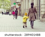 a brown haired is mom taking a... | Shutterstock . vector #289401488