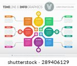 web template for circle diagram ... | Shutterstock .eps vector #289406129