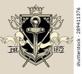 vector vintage nautical emblem   Shutterstock .eps vector #289411376