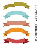 banner and ribbon set | Shutterstock .eps vector #289421444