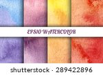 set of 4 watercolor abstract... | Shutterstock .eps vector #289422896