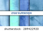 set of 4 watercolor abstract... | Shutterstock .eps vector #289422920