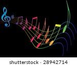 colorful design music element | Shutterstock .eps vector #28942714