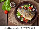 Baked Seabass With Greek Salad...