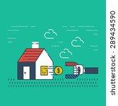 robbery insurance. housing...   Shutterstock .eps vector #289434590