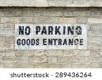 Graffiti 'no Parking Goods...