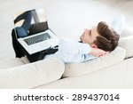 time to take a break. top view... | Shutterstock . vector #289437014