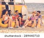Summer Fun. Group Of Joyful...