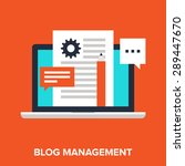 vector illustration of blogging ... | Shutterstock .eps vector #289447670