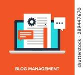 vector illustration of blogging ... | Shutterstock .eps vector #289447670