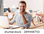 enjoying his work. handsome... | Shutterstock . vector #289448753