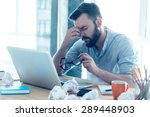 feeling exhausted. frustrated... | Shutterstock . vector #289448903