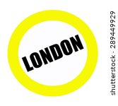 London Black Stamp Text On White