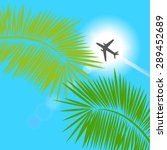 holiday traveling border  ... | Shutterstock .eps vector #289452689