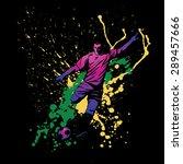 illustration of soccer player...   Shutterstock .eps vector #289457666