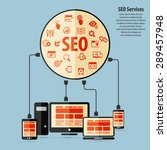 seo services concept with 20... | Shutterstock .eps vector #289457948