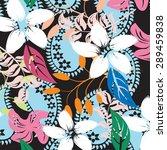 vector seamples flower  | Shutterstock .eps vector #289459838