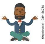 an african man closing his eyes ... | Shutterstock .eps vector #289466756
