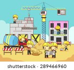 cartoon children civil engineer ... | Shutterstock .eps vector #289466960