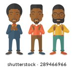 three young black handsome... | Shutterstock .eps vector #289466966
