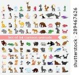 set of 94 cute cartoon animals | Shutterstock .eps vector #289467626