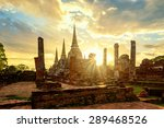Wat Phrasisanpetch At Sunset I...