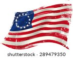 betsy ross grunge flag. flag of ...   Shutterstock .eps vector #289479350