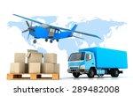 delivery.3d render illustration. | Shutterstock . vector #289482008