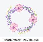 watercolor flowers frame... | Shutterstock . vector #289488458
