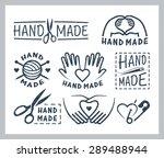 set of handmade badges  labels  ... | Shutterstock .eps vector #289488944