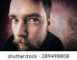 Portrait Of A Man Peeping....