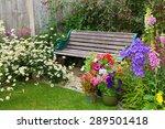 Cottage Garden With Wooden...