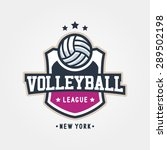 volleyball league badge logo... | Shutterstock .eps vector #289502198