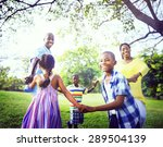 african family happiness... | Shutterstock . vector #289504139