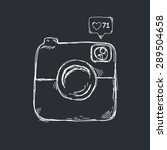 retro camera icon design in... | Shutterstock .eps vector #289504658
