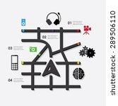 technology infographic | Shutterstock .eps vector #289506110