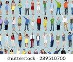 multiethnic casual people... | Shutterstock . vector #289510700