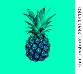 bright pineapple print .exotic... | Shutterstock .eps vector #289514180