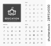 education thin  medium and bold ... | Shutterstock .eps vector #289514330