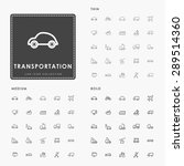 transportation thin  medium and ... | Shutterstock .eps vector #289514360
